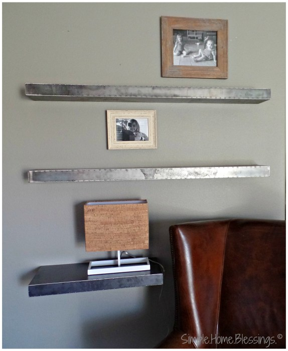 create a layered look for shelves, step 1