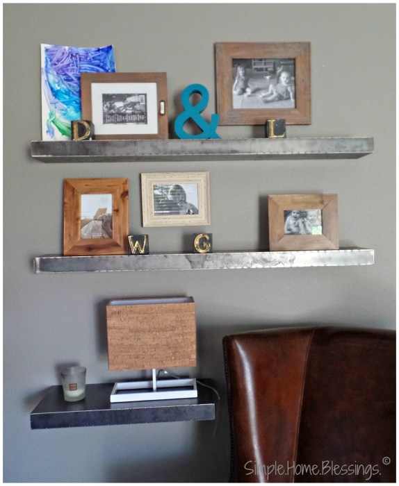 create a layered look for shelves, step 3