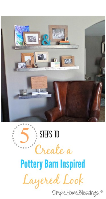 Create a Layered look for your shelves with these simple steps