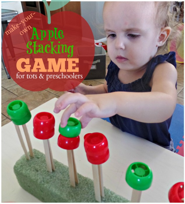 Apple Stacking Game for Toddlers and Preschoolers - simple fun!