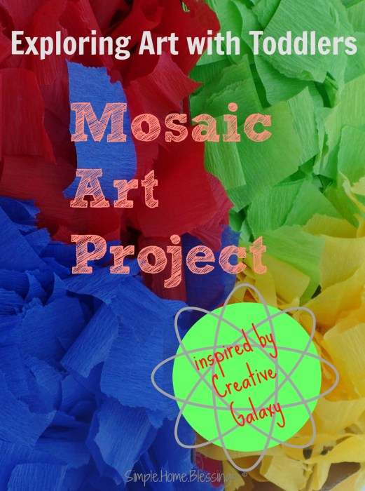 mosaic art project for toddlers, inspired by Creative Galaxy