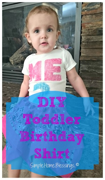 easy DIY toddler birthday shirt project