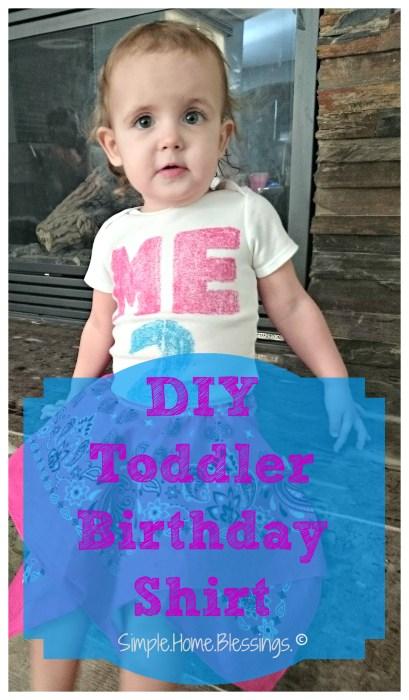 easy DIY toddler birthday shirt project