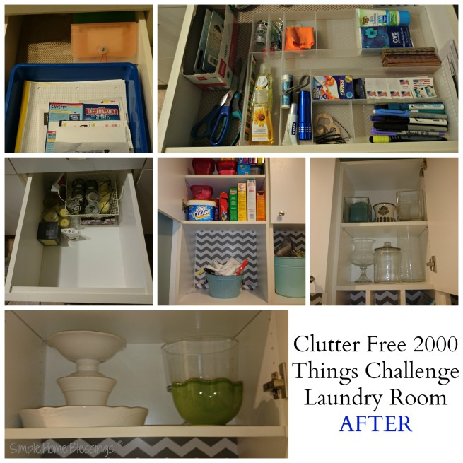 Clutter Free Journey, Laundry Room AFTER