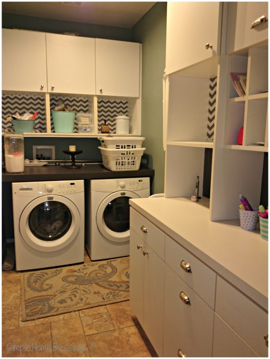 cabinet makeover with contact paper