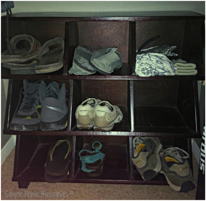 Entryway coat closet, shoe organizer