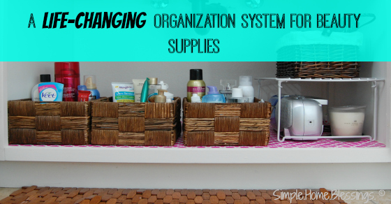 a life-changing organization system for beauty supplies