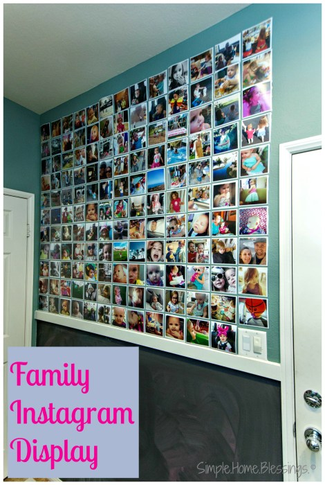 Family Instagram Photo Wall