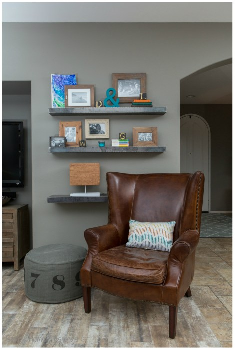 Living Room Makeover - reading nook