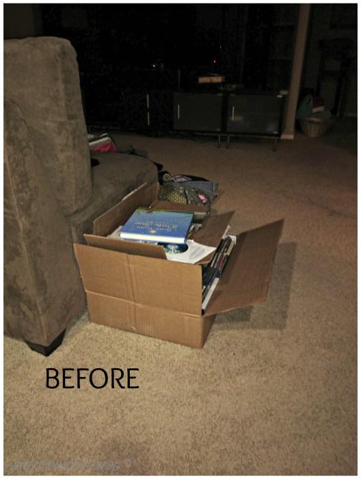 media storage makeover - before