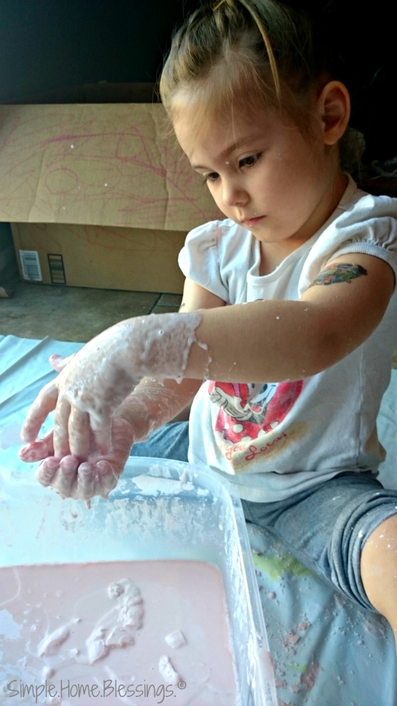 Sensory Glop - messy play for little hands.