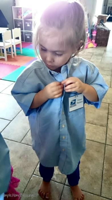 preschool pretend play post office