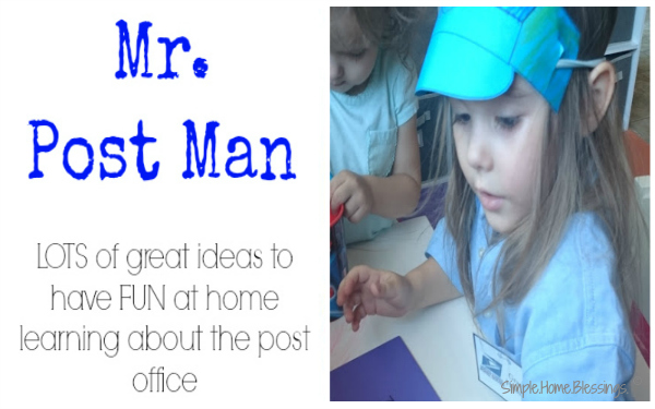 A FUN preschool unit about the mail man
