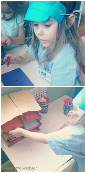 Preschool Mail Man activity number and letter sort