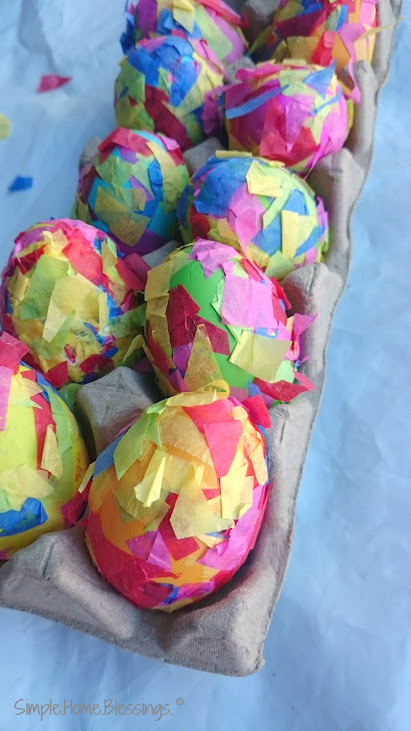 Mosaic Easter Eggs - a fun and simple craft for kids