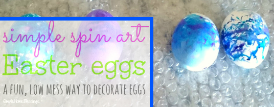Spin Art Easter Eggs - such beauty from a FUN activity!