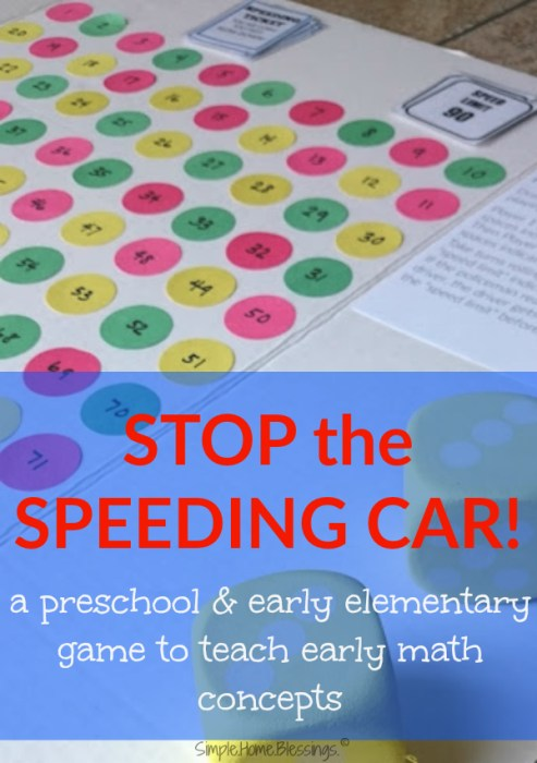 Stop the Speeding Car - a fun early math concepts game!