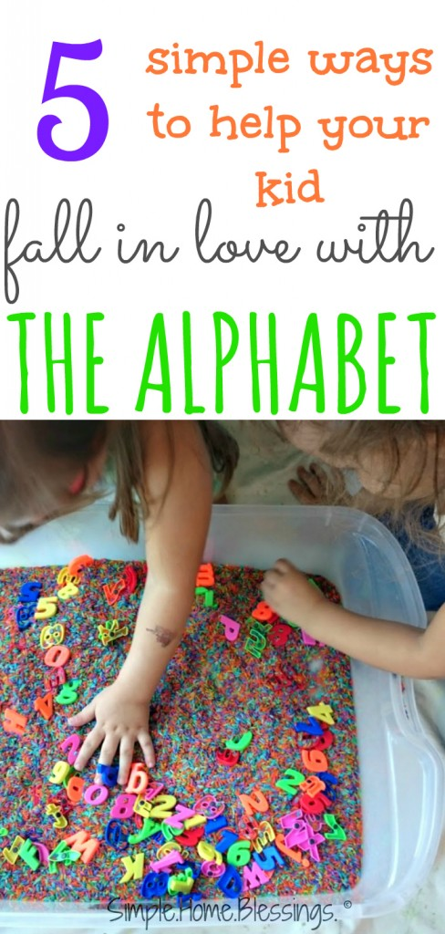 simple ideas for teaching kids to love the alphabet