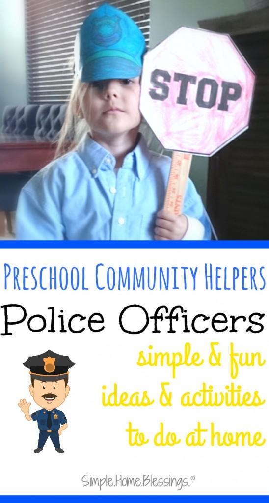 Preschool Helpers: Police Men - Simple  Home  Blessings