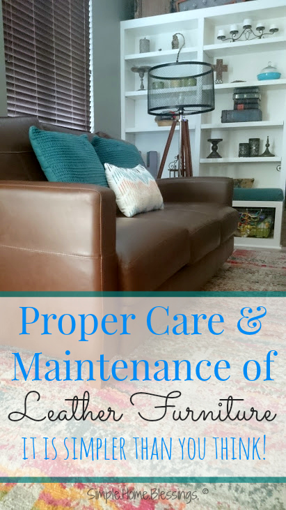 a simple tutorial for the proper care and maintenance of leather furniture, details on what to choose when shopping for leather furniture and how to take care of it in your home