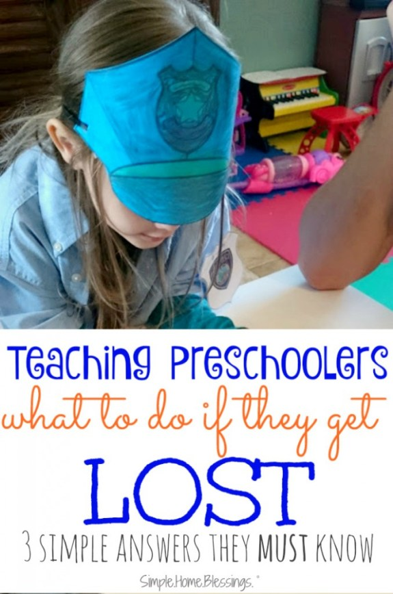 teaching preschoolers what to do if they get lost - 3 answers they must know