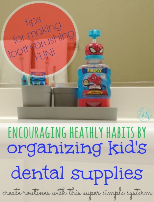 encourage kids to brush their teeth with this simple system and tips to make tooth brushing FUN!