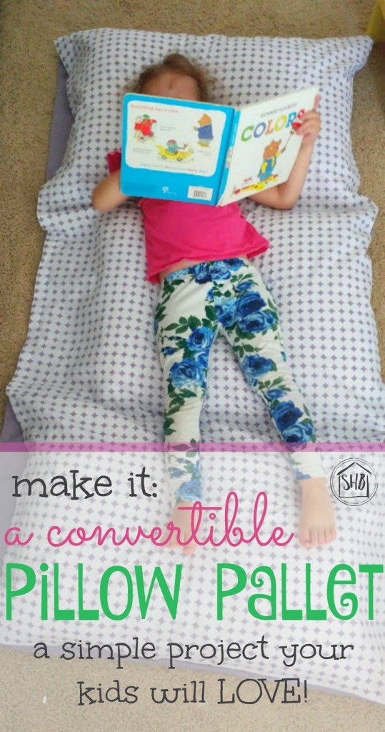 pillow pallet for kids - a simple tutorial for a convertible pillow pallet - perfect for movie night lounging or reading in bed