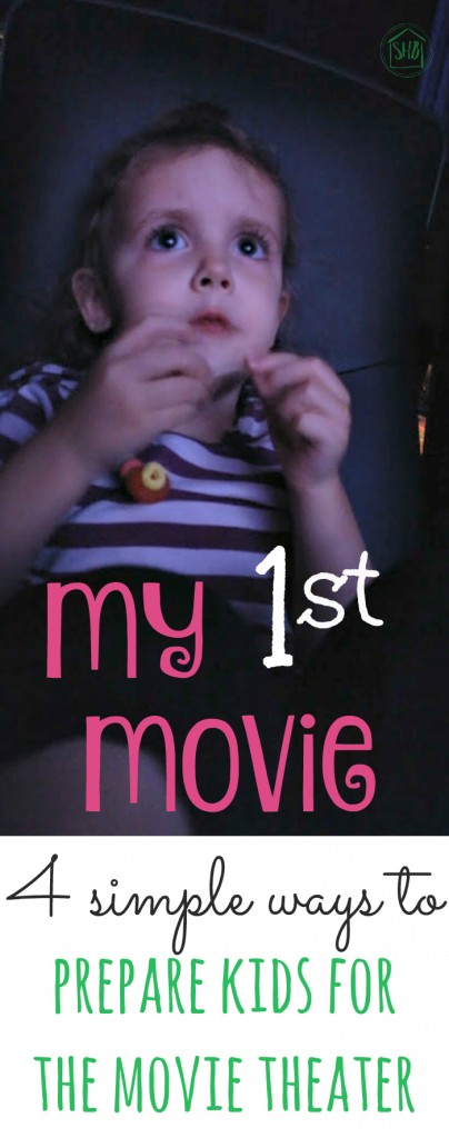 simple list of tips for going to the movie with kids for the first time; including a fun craft project for kids to make and take with them