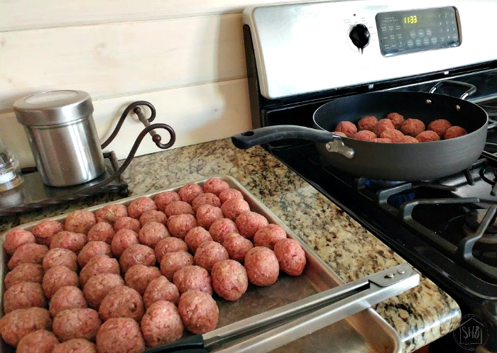 preparing meatball recipes for the freezer