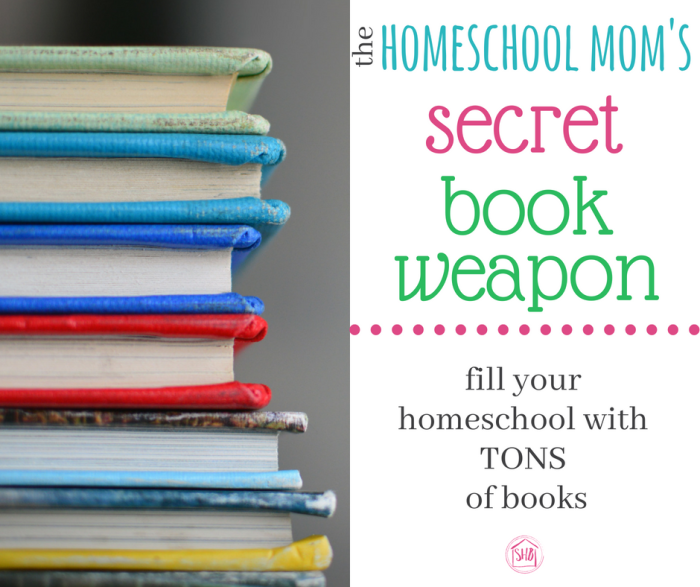 one homeschool mom's secret to filling her homeschool with books, audio and e-books