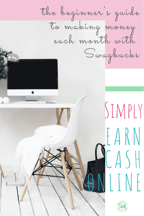 how to get started earning cash with Swagbucks