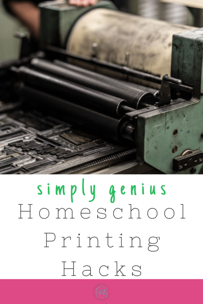 Homeschool printing hacks that are simply genius!