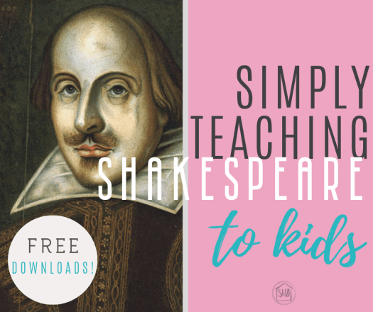 details on teaching Shakespeare to kids, a simple process and quotes to get started