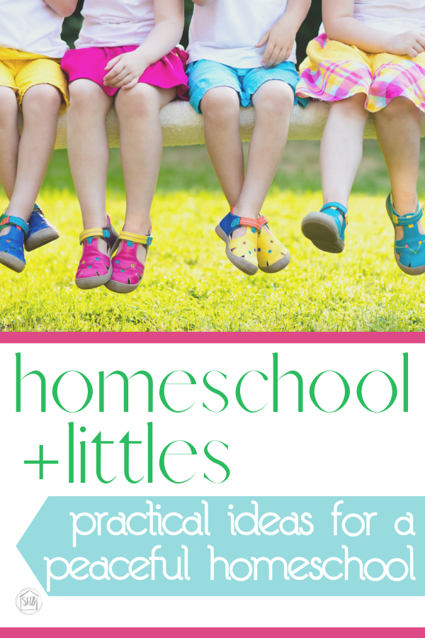 simple ideas for combining homeschool with preschool while keeping the peace.