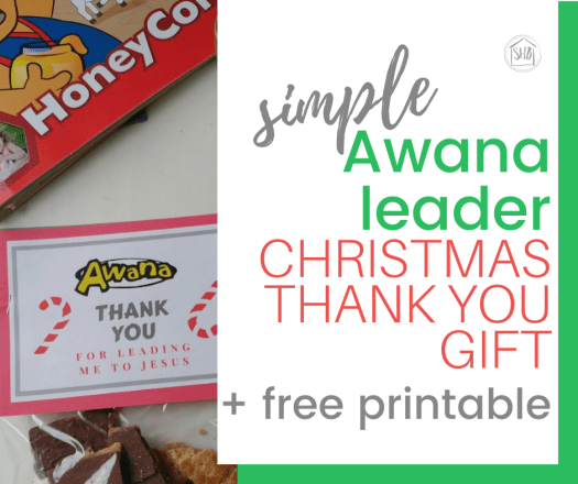 create and gift simple thank you for your Awana leaders for christmas - free printable and recipe included