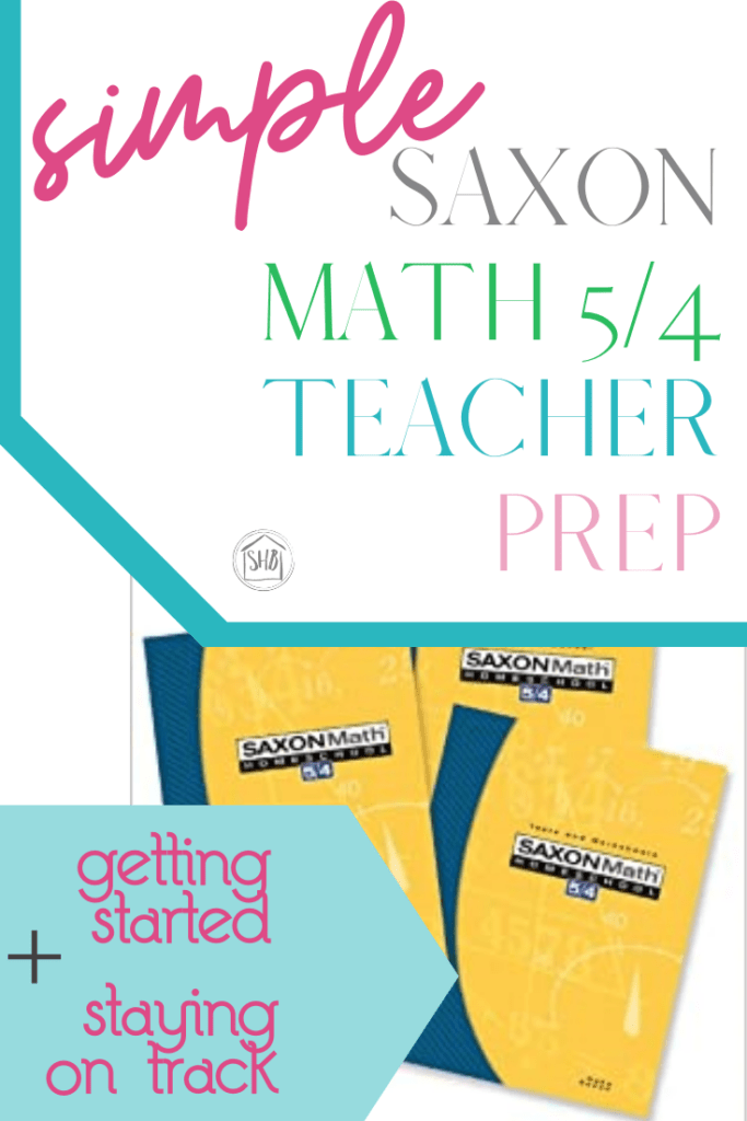 Preparing your student for Saxon Math 5/4 just got a whole  lot easier.  This simple organization and prep process will save time and money