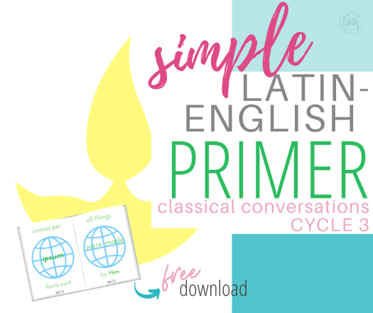 learn John 1:1-7 with elementary kids with this simple Latin-English primer; perfect for Classical Conversations Cycle 3