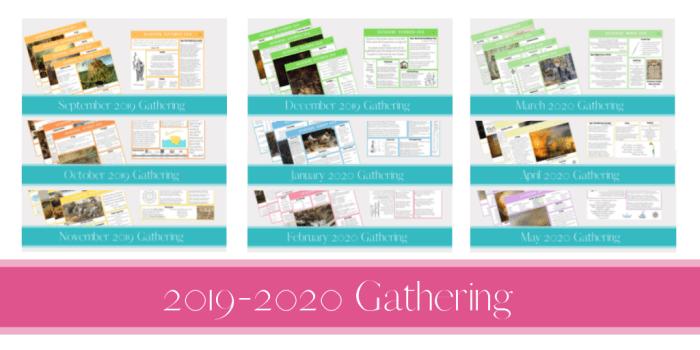 2019-2020 Gathering Placemats