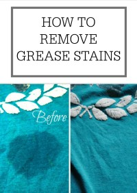 How to remove grease stains  Simple Homemaking