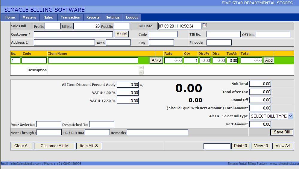 Free Invoice Software Chennai India
