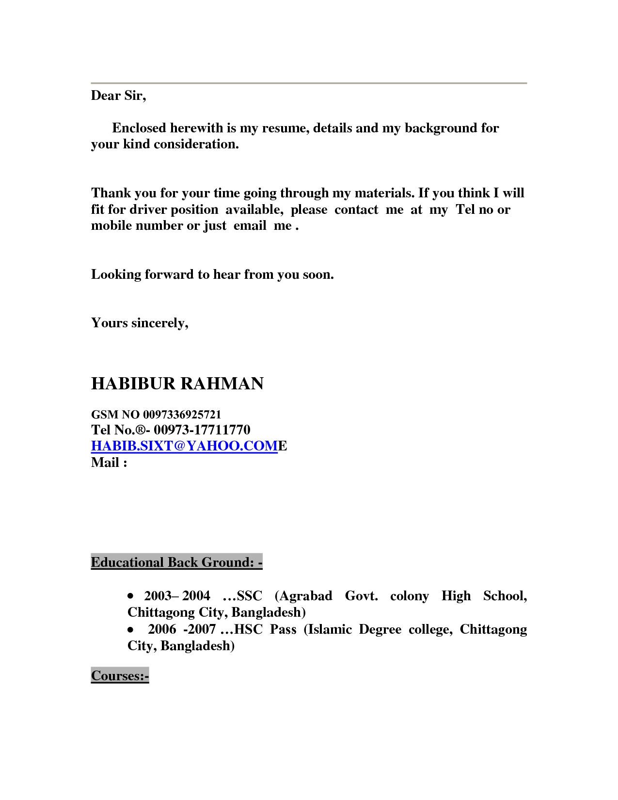 Find My Resume Please Find Enclosed My Resume Resume Ideas
