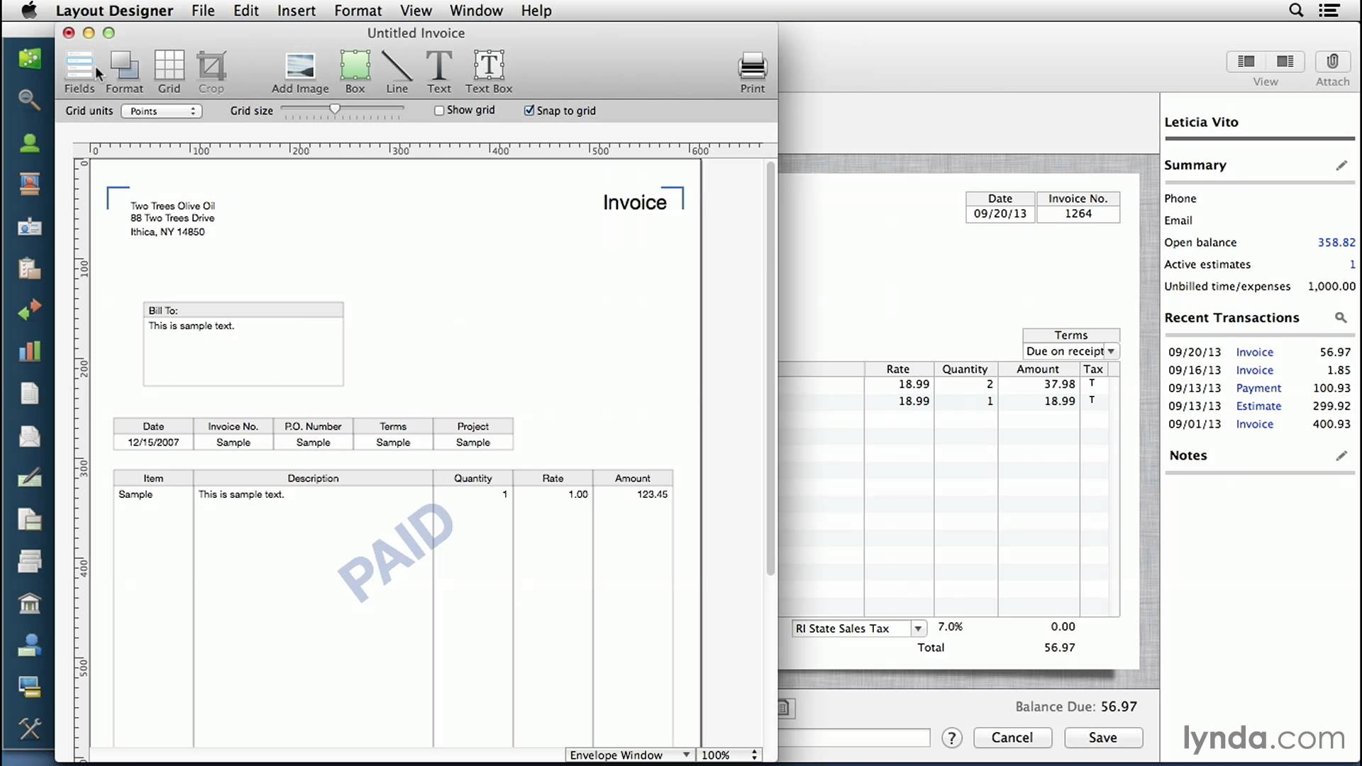 create invoices on mac
