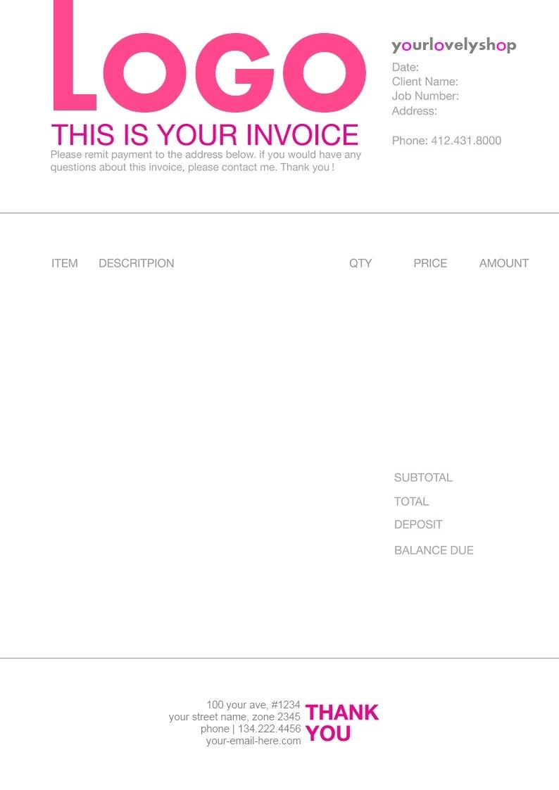 freelance artist invoice