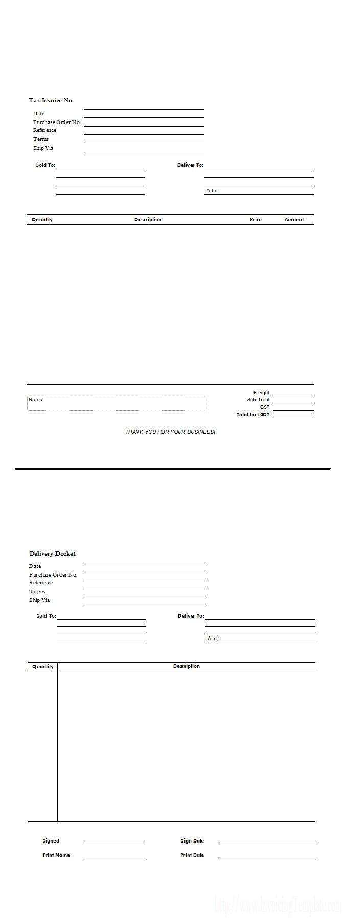 Contoh Packing List Dan Invoice * Invoice Template Ideas