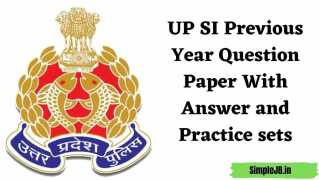 UP SI Previous Year Question Paper With Answer and Practice sets