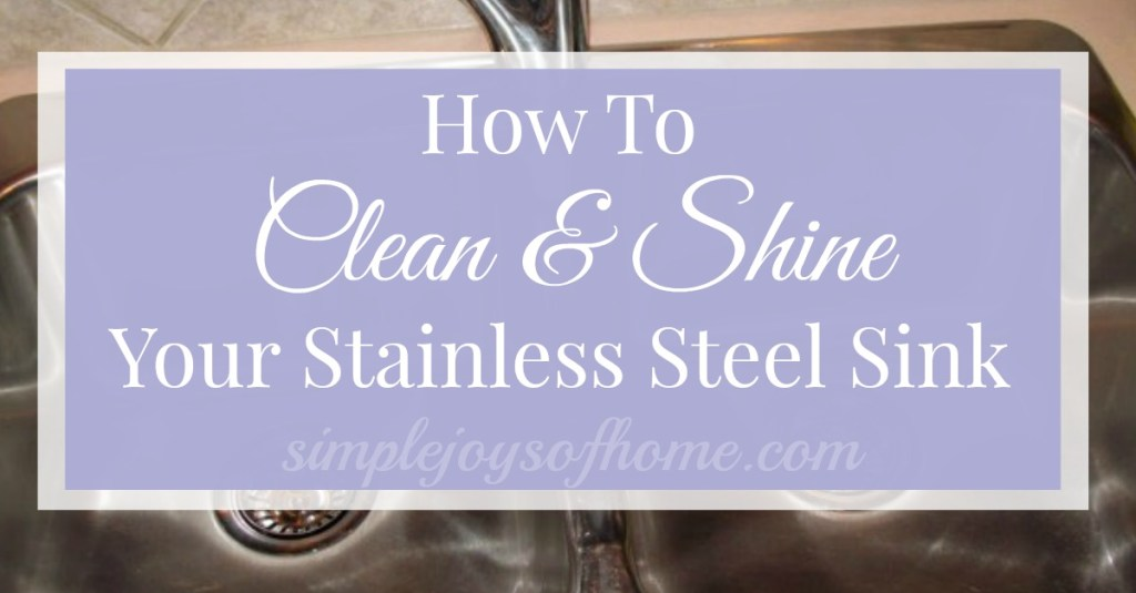 How To Clean Stainless Sink