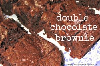 Double Chocolate Brownie
