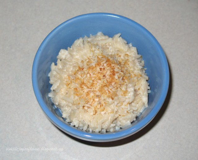 Creamy Coconut Rice Pudding