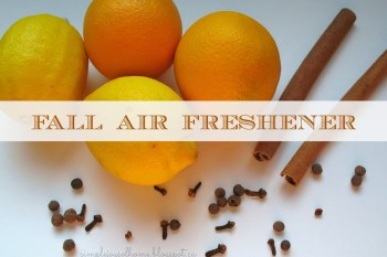 31 Days of Autumn {Day 16}: Fall Air Freshener