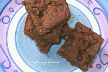 Fudgey Black Bean Brownies